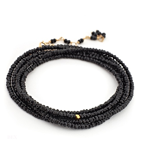 Anne Sportun Wrap Bracelet - Black Spinel