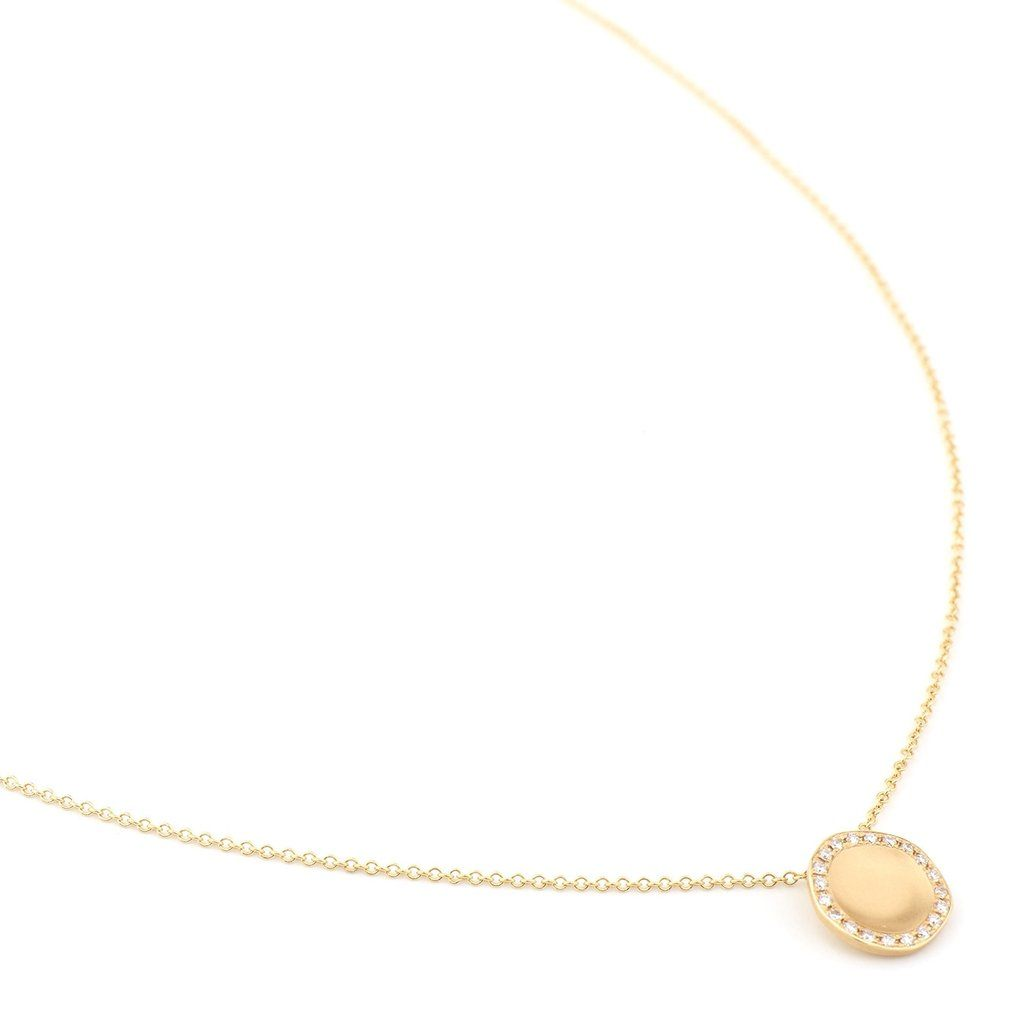 'Lilydust' Pendant & Chain - 18K Yellow Gold