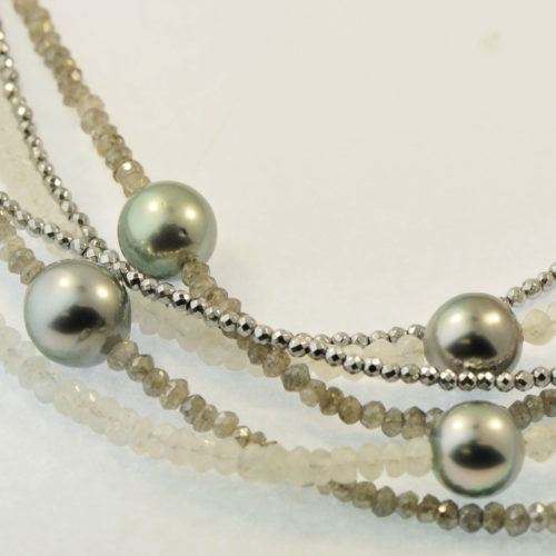"Gellner ""Big Bang"" bead & pearl multi-strand necklace"