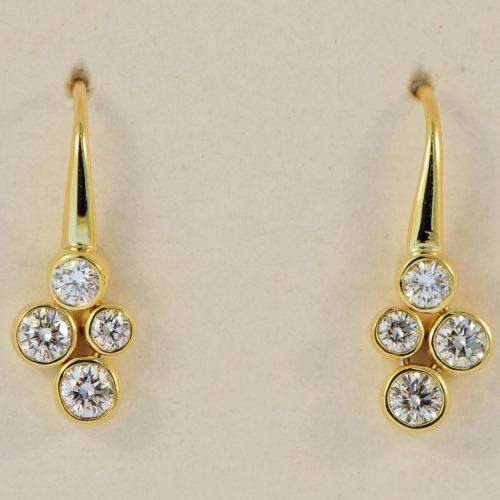 "Mark Patterson 18ky Diamond ""Mist"" earrings"