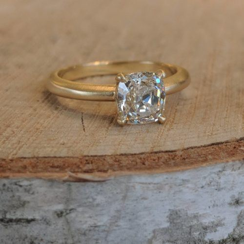 Antique Styled Cushion Diamond Ring