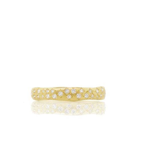 Yellow Gold, Diamond Wavy Pave Band