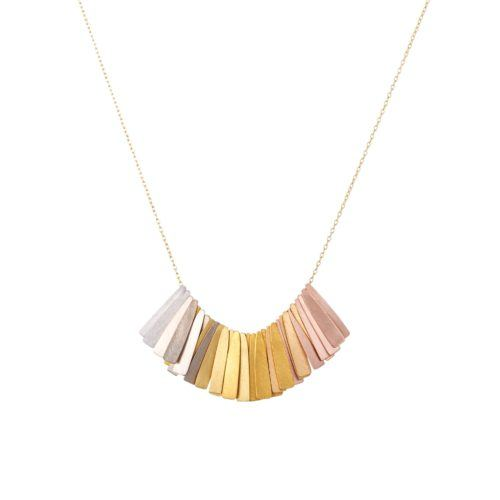 Rainbow Ray Fringe Necklace