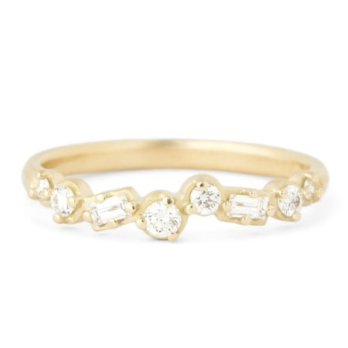 "Baguette, Round Diamond ""Festival"" Band"