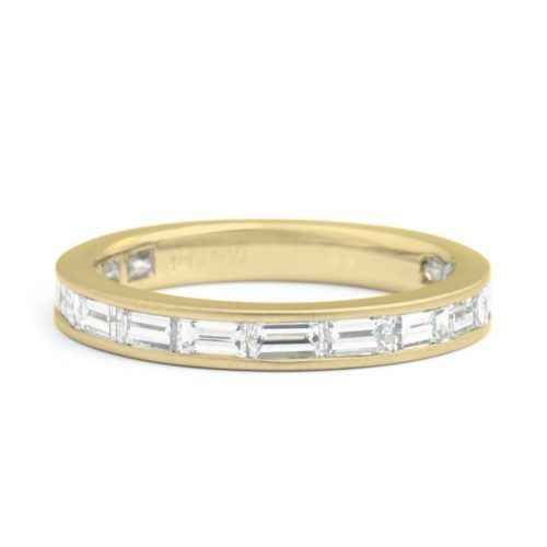 Yellow Gold, Baguette Diamond Band