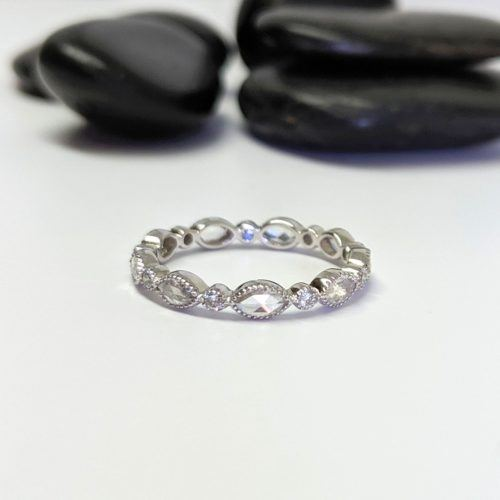 Marquise, Round Diamond Bezel Band