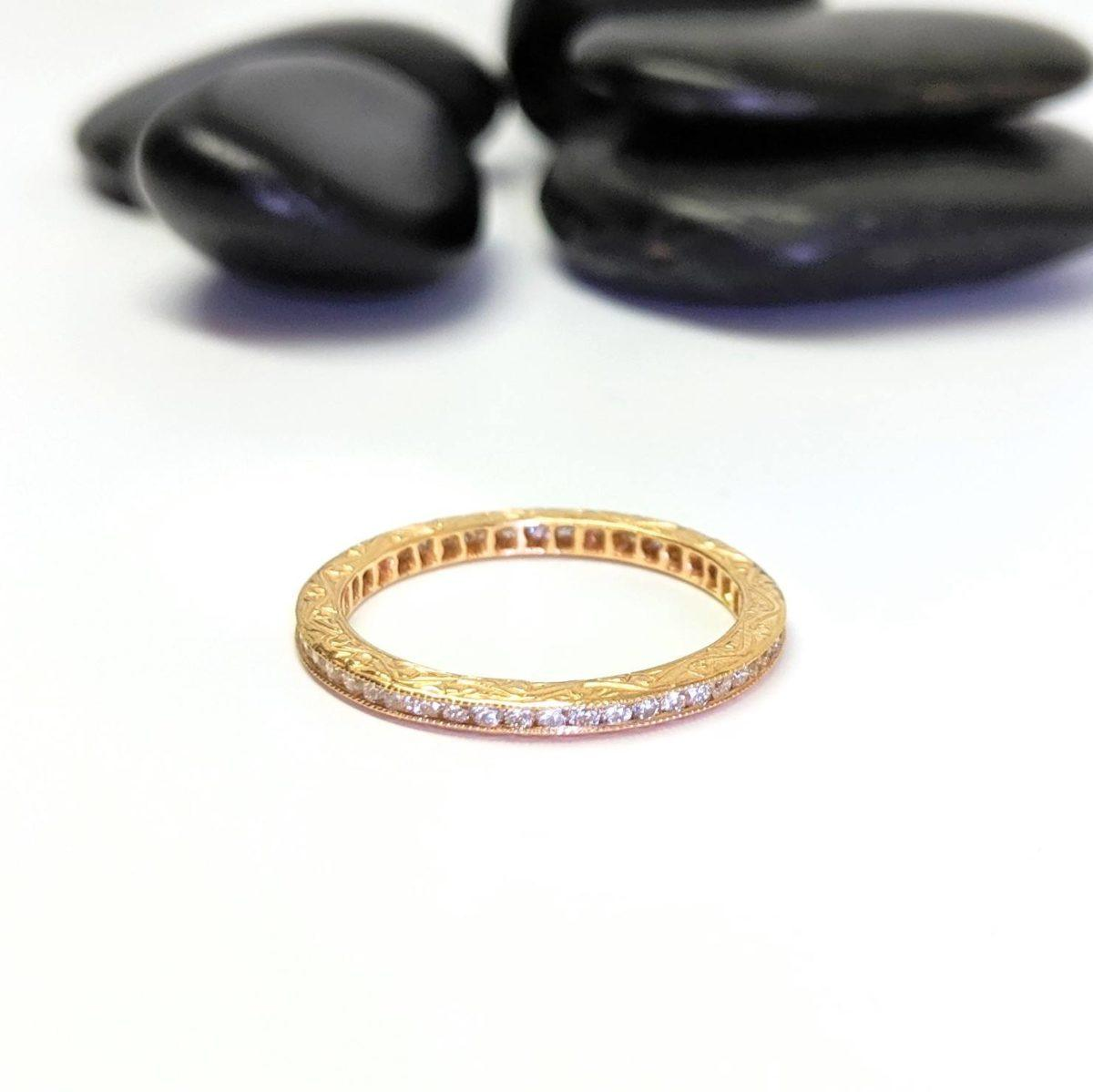 Channel Set White Diamond Eternity Band