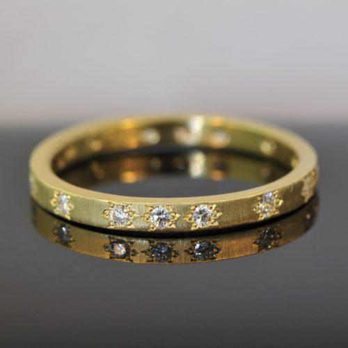 Straight Diamond Band in Gold