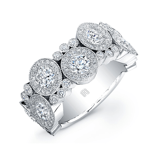 White Gold Bubble Ring