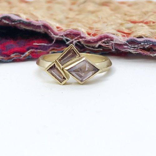 Plum Spinel and Sapphire Statement Ring