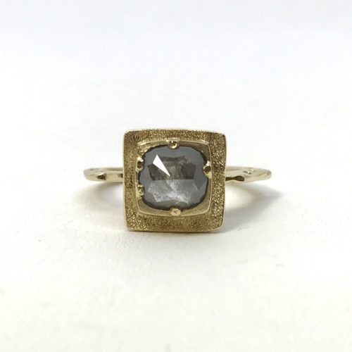 Rough cut Diamond Statement Ring