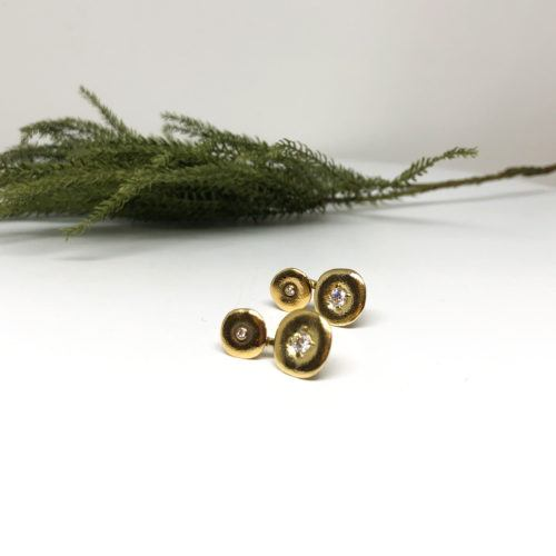 Yellow Gold and Diamond Double 'Orchard' Earrings