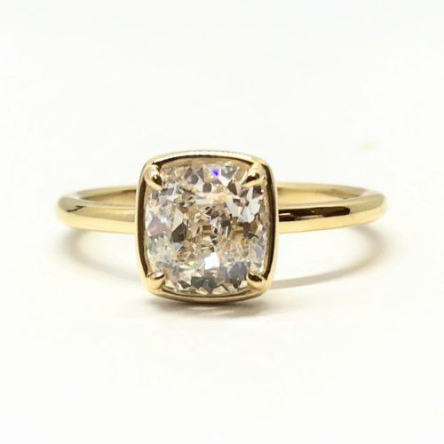 1.70 Carat Old Mine Cut Diamond Solitaire