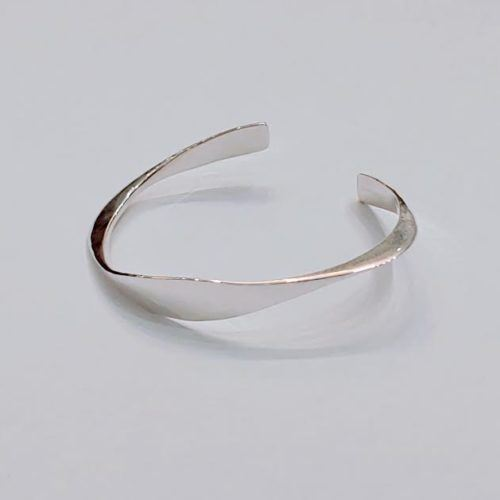 Sterling Silver Smooth Twisted Cuff