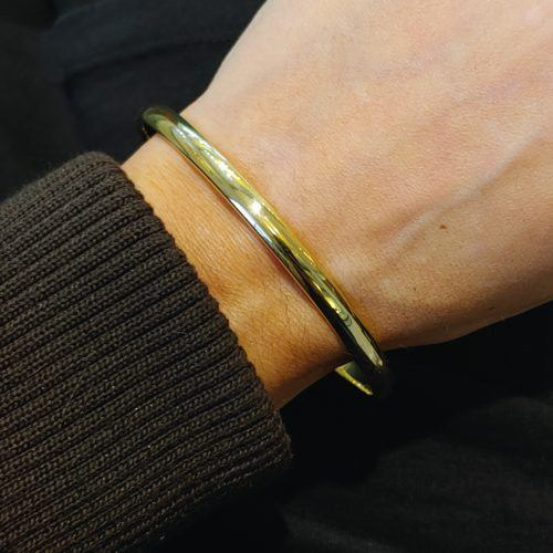 5 mm Solid Gold Bangle by Guertin Brothers