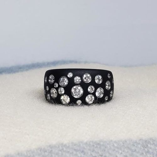 Stars in Heaven Steel and Diamond Ring