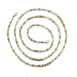 Natural Zircon and Yellow Gold Strand