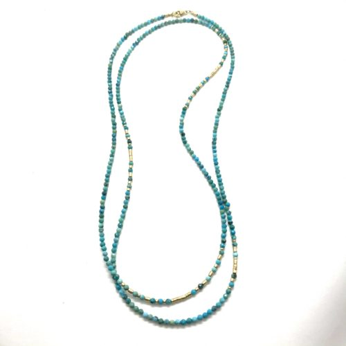 Faceted Ombre Turquoise Necklace