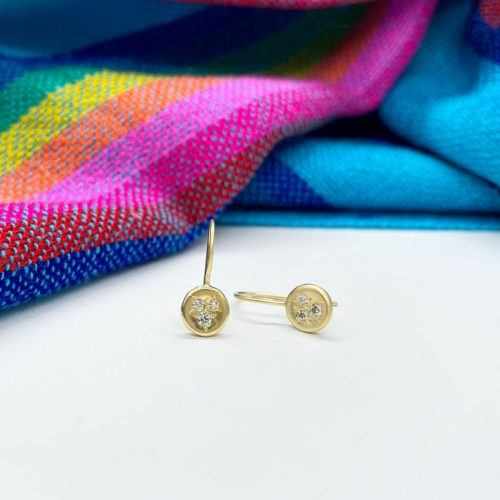 Ali Dumont Small Yellow Gold and Diamond Earrings
