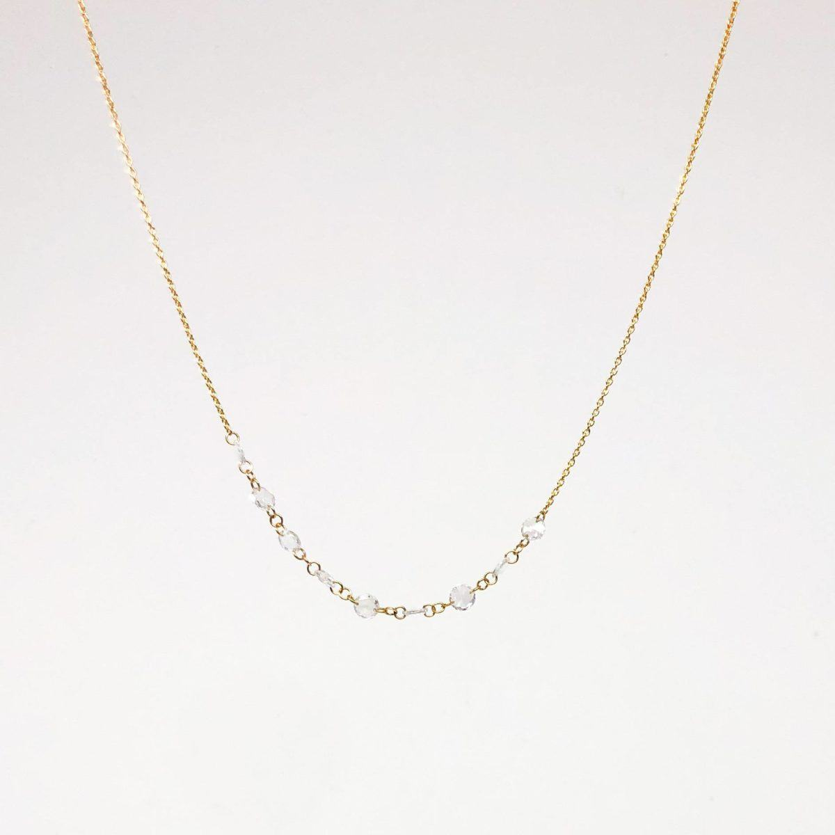 0.86 CT Drilled Diamond Necklace