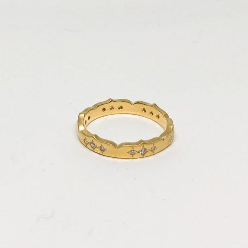 Yellow Gold and Diamond Crown Ring